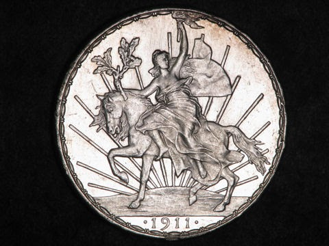 Mexico Caballito One Peso Silver Coin Of 1911 World