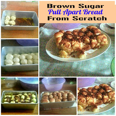 Brown Sugar Pull Apart Bread From Scratch @ treatntrick.blogspot.com