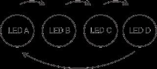 Skema Running Led Atau Lampu Berjalan Menggunakan Transistor