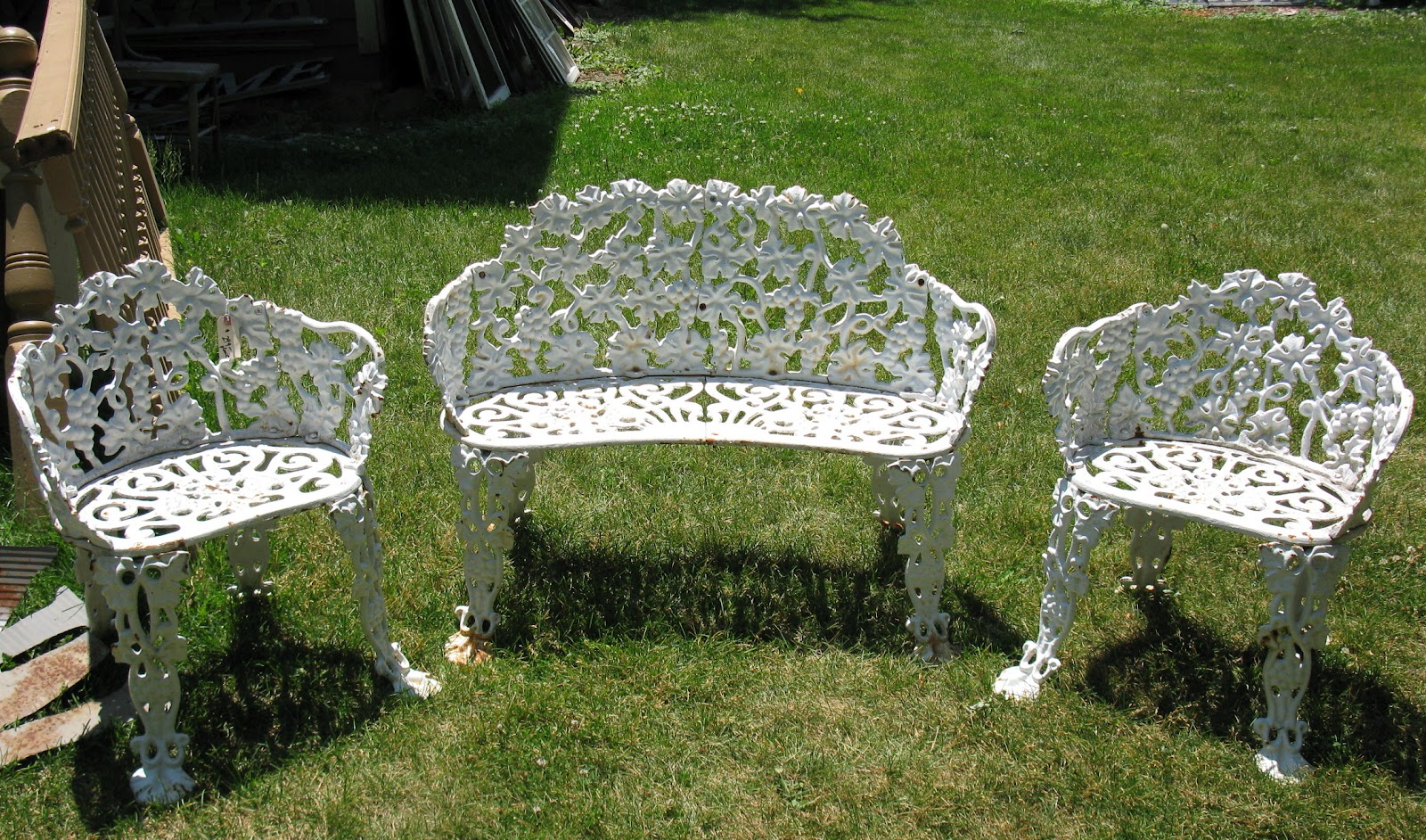 white outside chairs clear ghost chair cast iron patio set design ideas
