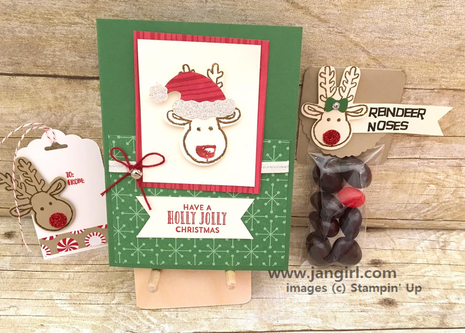Jan Girl: Stampin' Up Cookie Cutter Christmas Reindeer card, treat ...