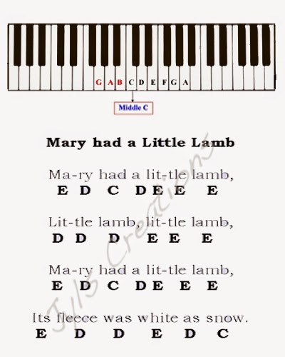 how to play mary had a little lamb on piano