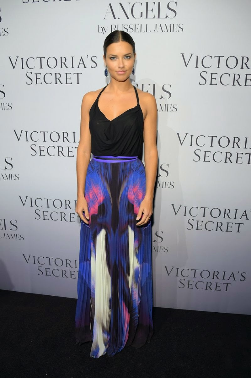 Adriana Lima at Russell James' 'Angel' Book launch in New York City