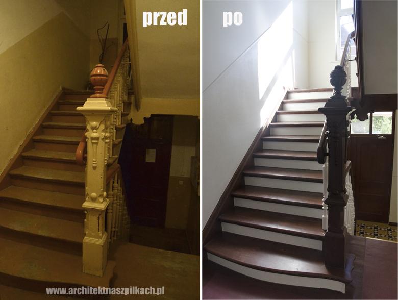 renowacja schodów na klatce schodowej