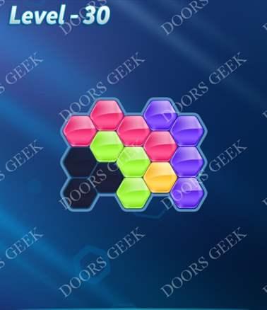 Block! Hexa Puzzle [Intermediate] Level 30 Solution, Cheats, Walkthrough for android, iphone, ipad, ipod