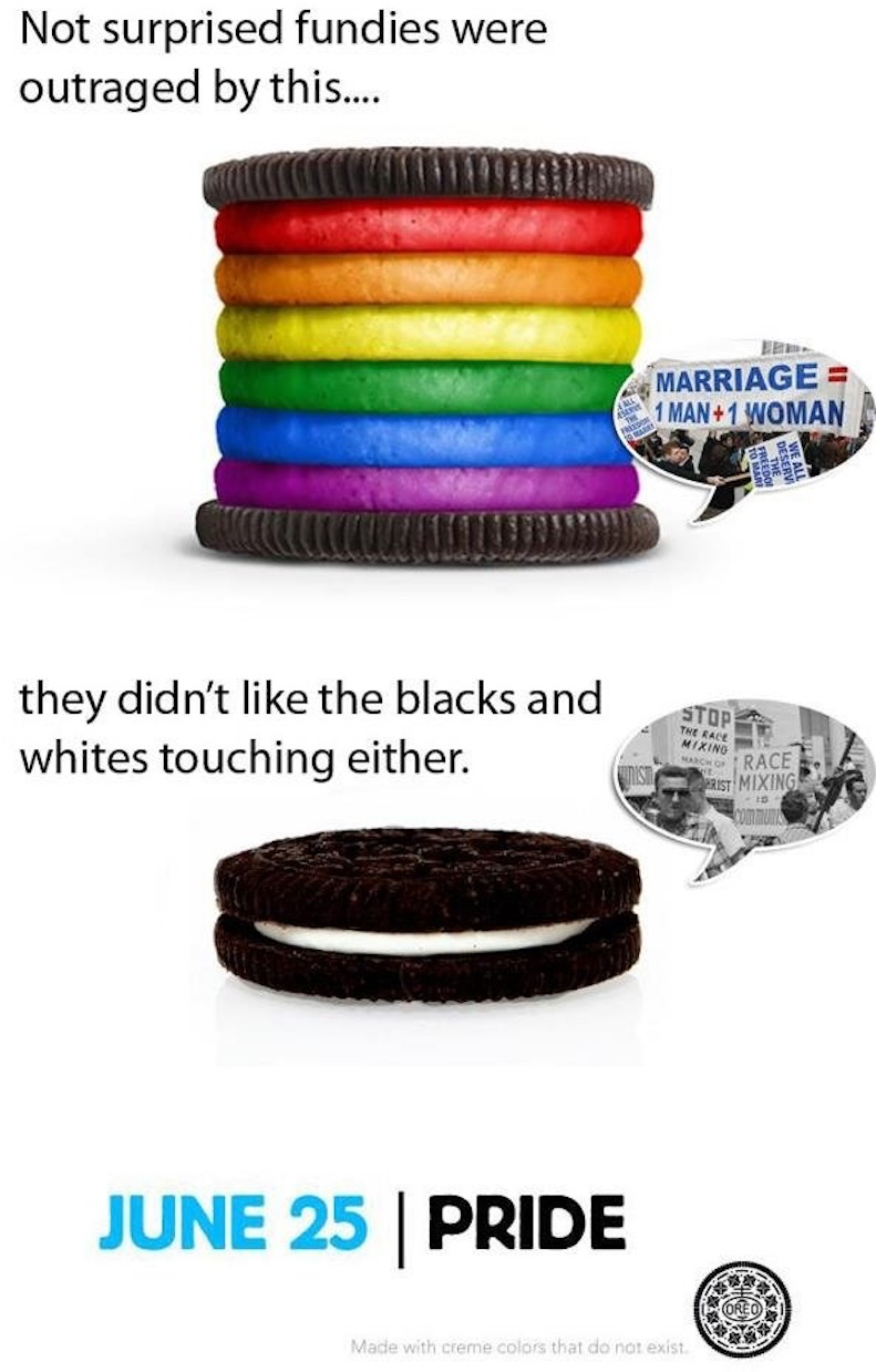Rainbow Oreo to celebrate Gay Pride