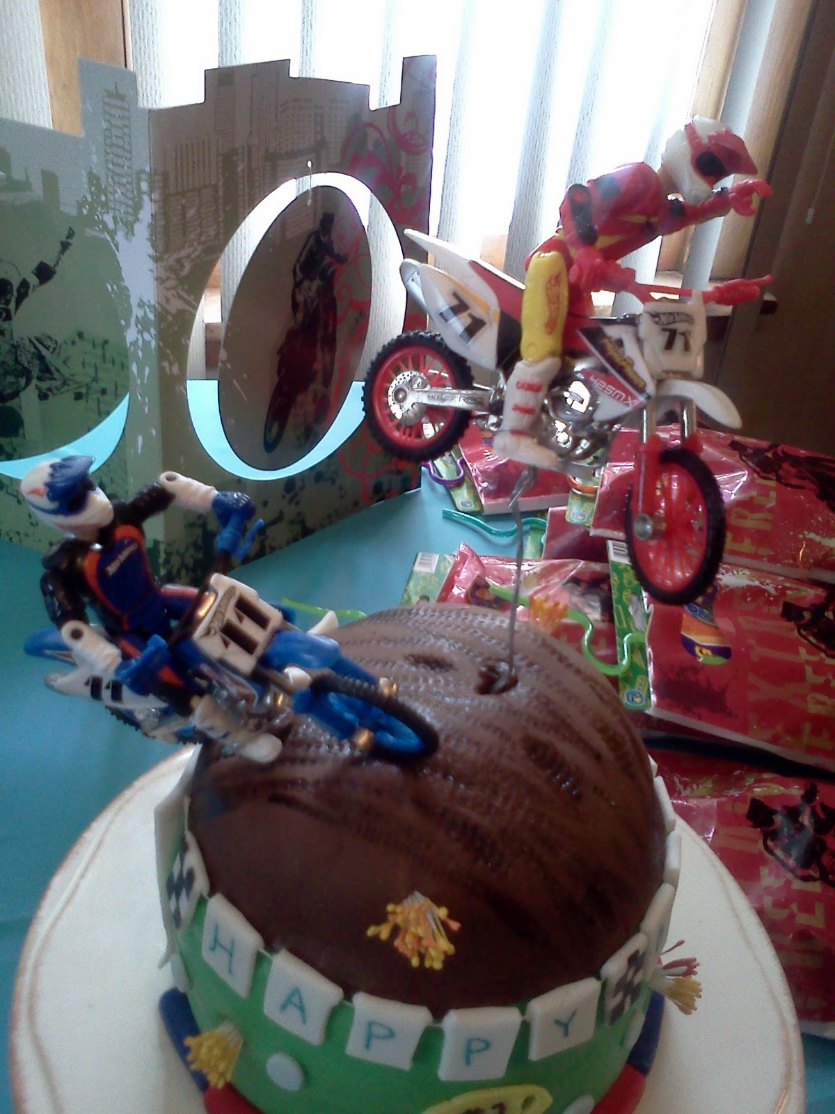 Lindy S Bayside Confections Dirt Bike Cake