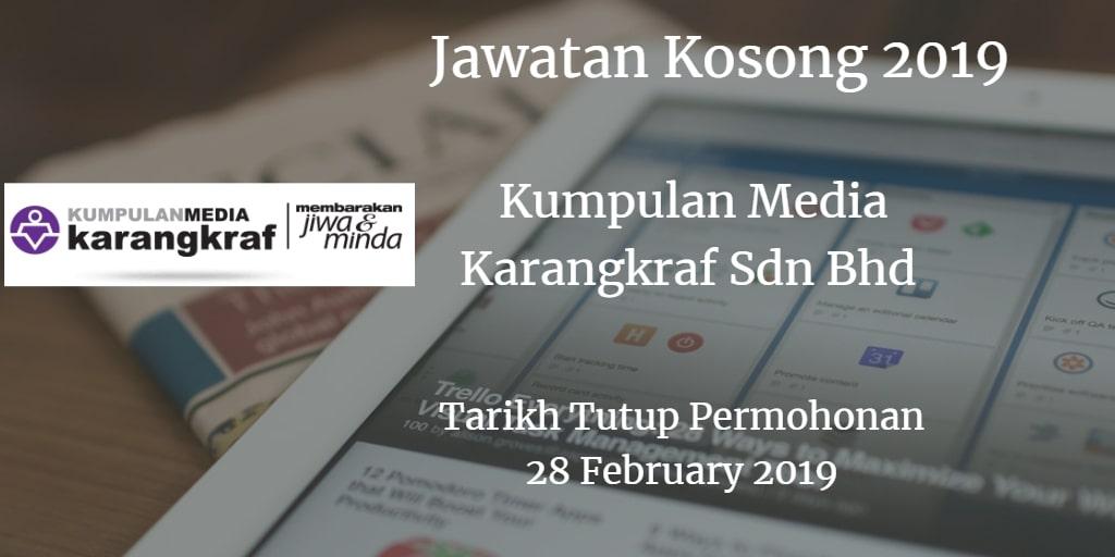 Jawatan Kosong Kumpulan Media Karangkraf Sdn Bhd 28 February 2019