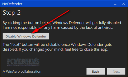 Disattivare o disinstallare Windows Defender