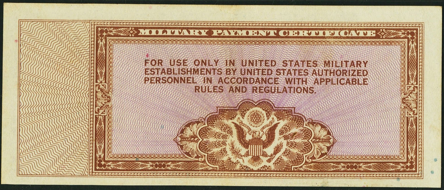 Ten Dollars US Military Payment Certificate, Series 472