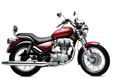 Royal Enfield Thunderbird 350 side angle red color image