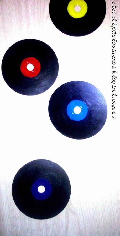 Discos de vinilo con CDs | Manualidades