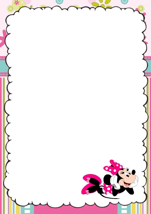 Bonita caratula para cuaderno de Minnie