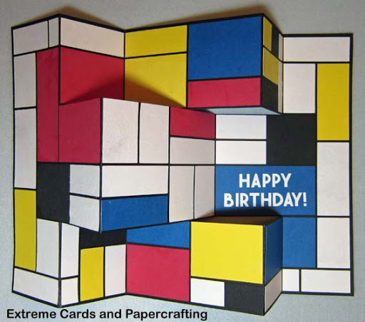 Mondrian style birthday card