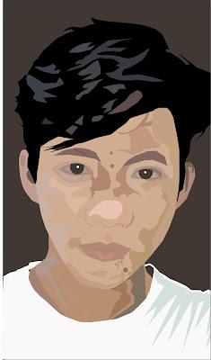 tutorial gambar vektor wajah dengan corelDRAW