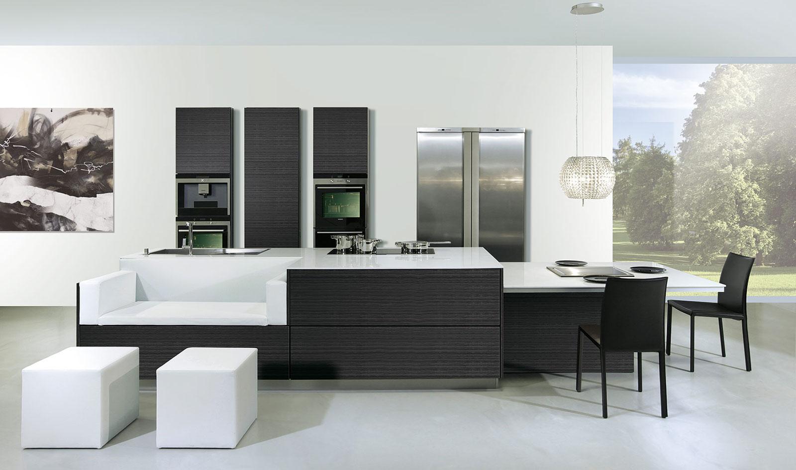 Arte y arquitectura cocinas con isla y mesa adosada for Isla de cocina con mesa