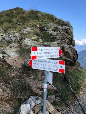 Signage at Passo Salmurano.