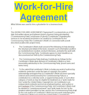 Work for hire writing contract