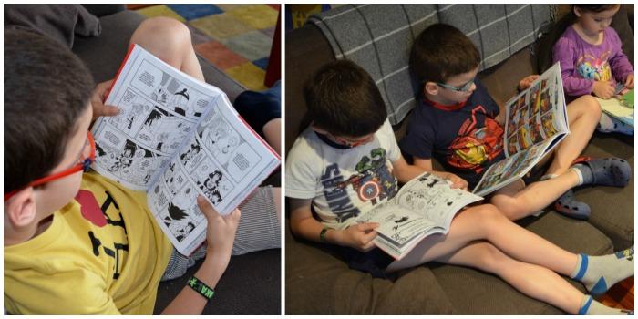 los mejores cómics para niños, beneficios y fomento lectura, niños leyendo
