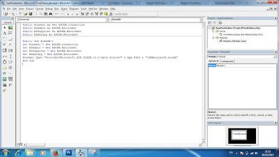 Membuat Form Login Aplikasi Pembelian VB 6.0