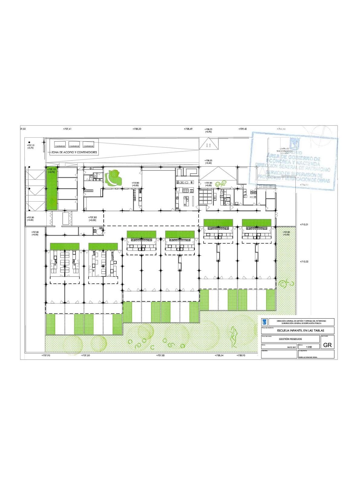 Las tablas digital el ayuntamiento adjudica la for Plano escuela infantil