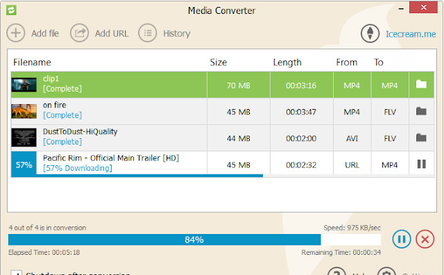 برنامج تحويل الاغاني والفيديو مجاني للكمبيوتر Icecream Media Converter 1.56