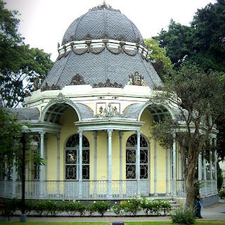Construção do Parque de la Exposición, em Lima