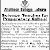 Aitchison College Lahore Jobs
