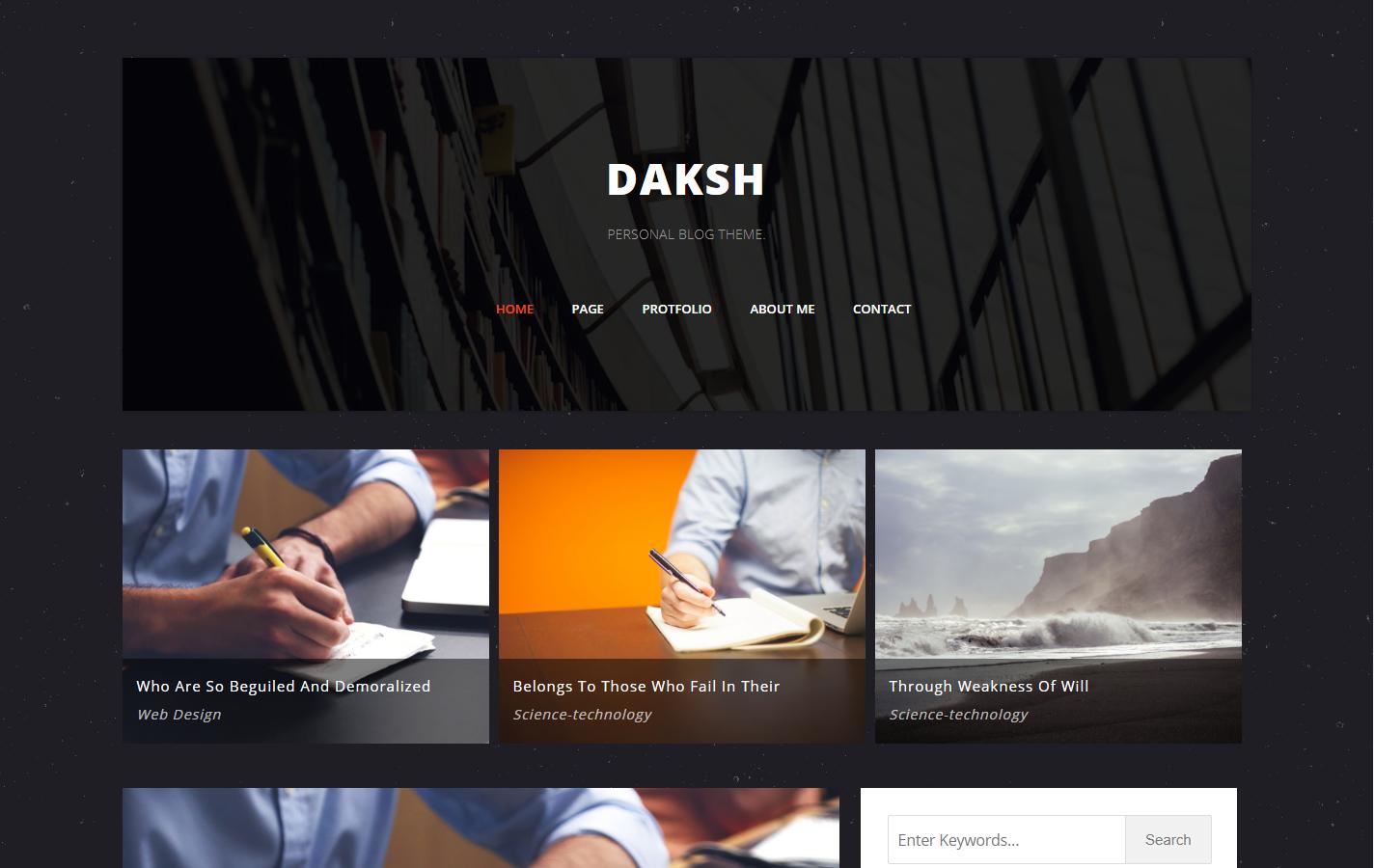daksh blogger template