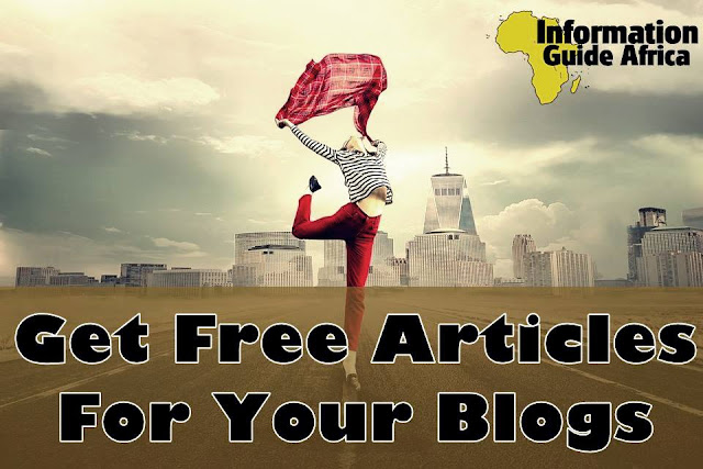 How to get free articles for your blog