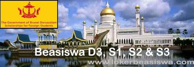 Beasiswa Penuh Brunei D3, S1, S2 dan S3