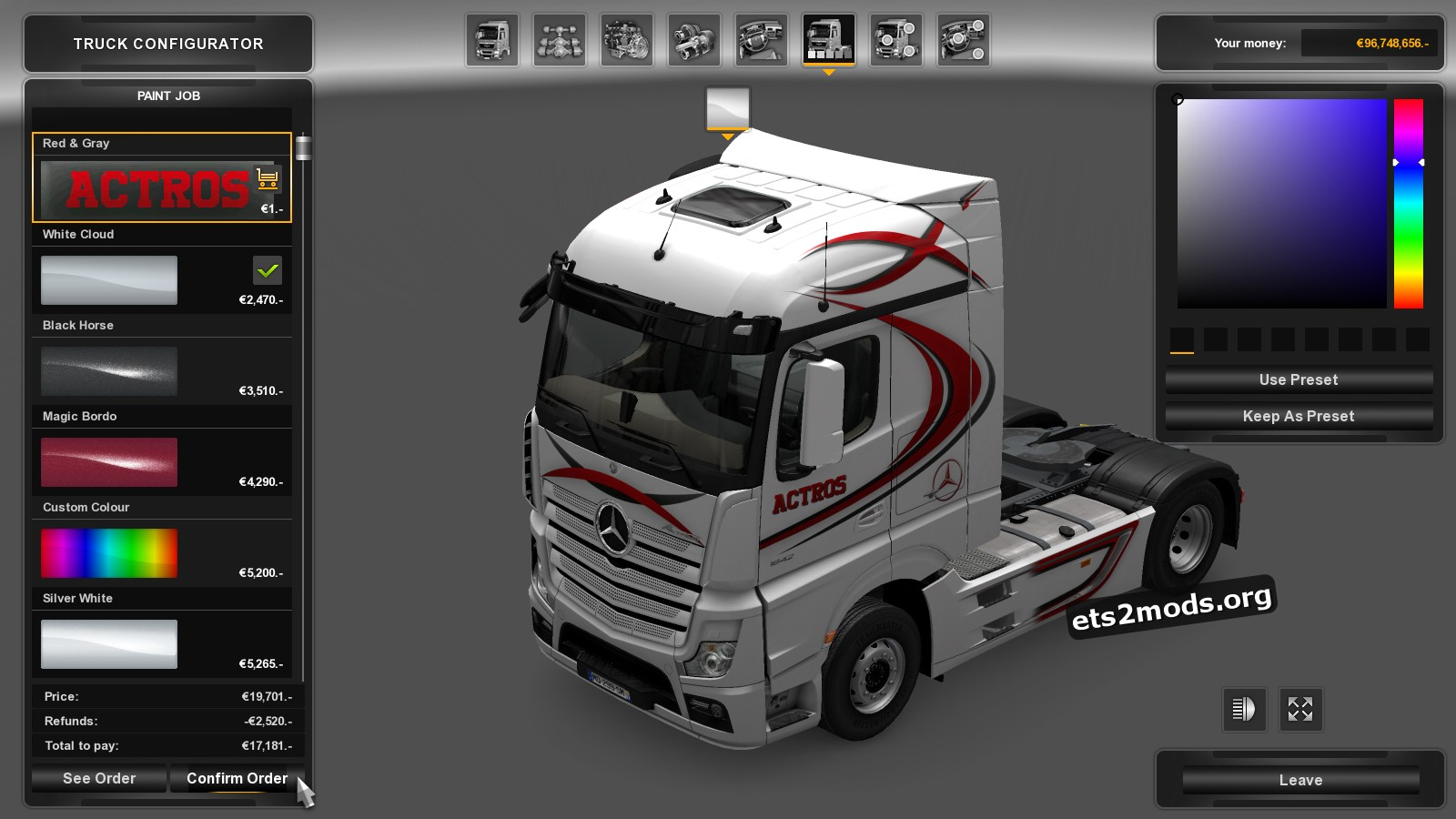 Red & Gray Skin for MP4