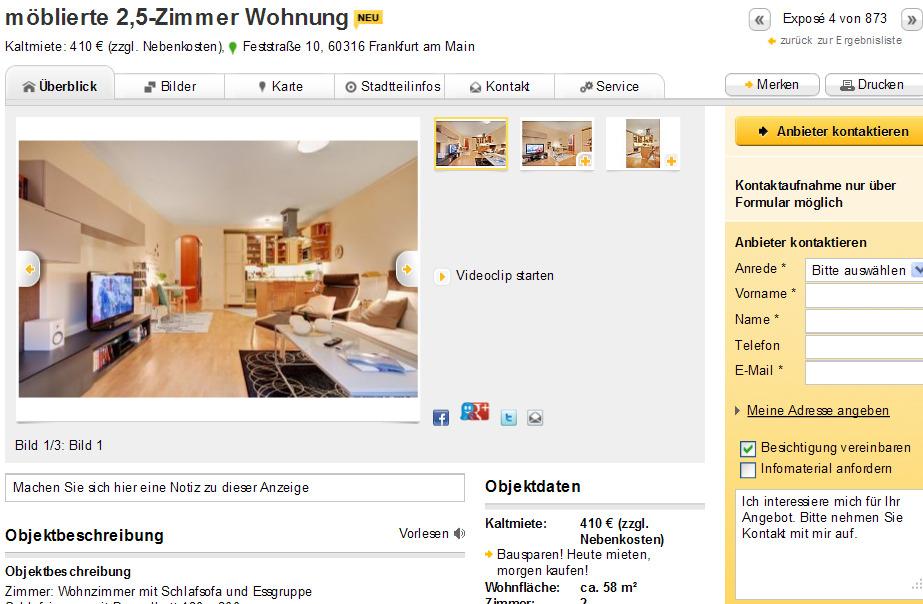 M Ef Bf Bdblierte Wohnung Frankfurt Am Main