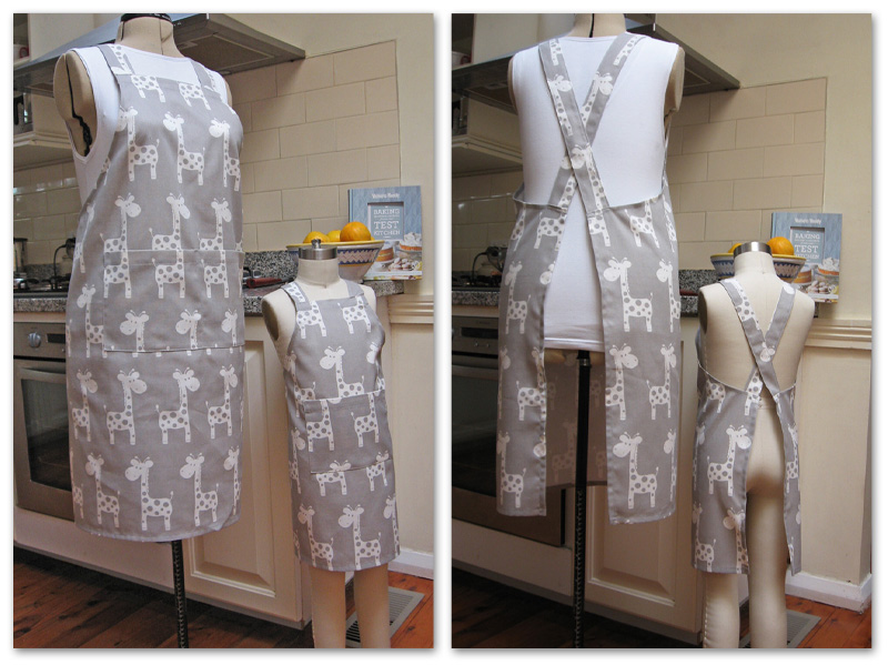 Cross-back Apron for Mothers and Daughters