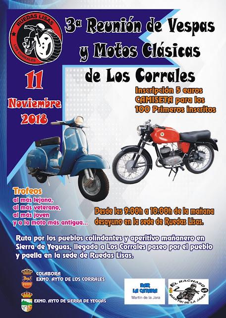 Reunión de Vespas y Motos Clásicas Los Corrales 2018