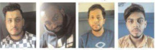 Photos: Indian Police arrest gang of notorious conmen including a 28-year-old Nigerian national