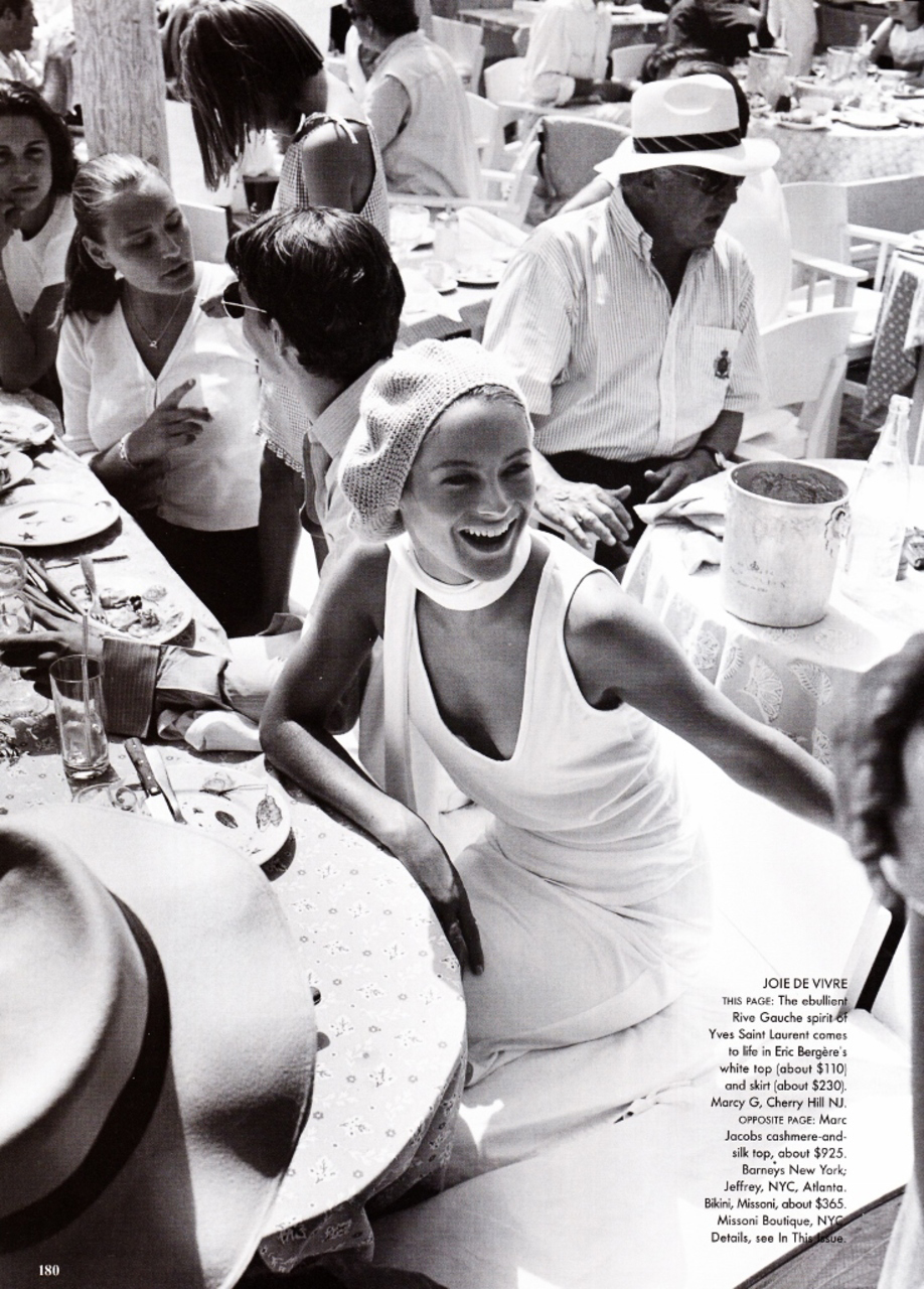 Carolyn Murphy wearing Yves Saint Laurent in Vogue US July 1999 (photography: Mario Testino) via www.fashionedbylove.co.uk