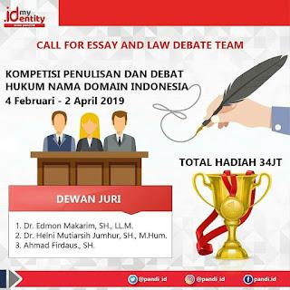 Kompetisi Penulisan dan Debat Hukum Nama Domain Indonesia 2019 Umum Gratis