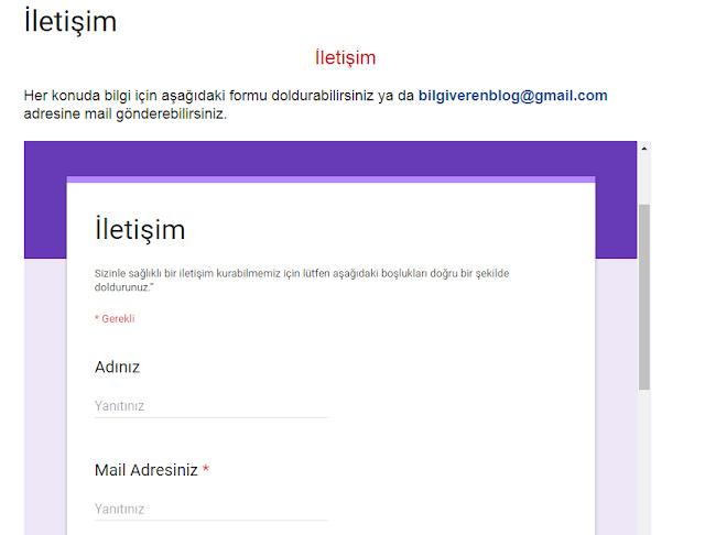 iletişim sayfası