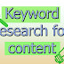 Keyword research for content ideas for blog 2019