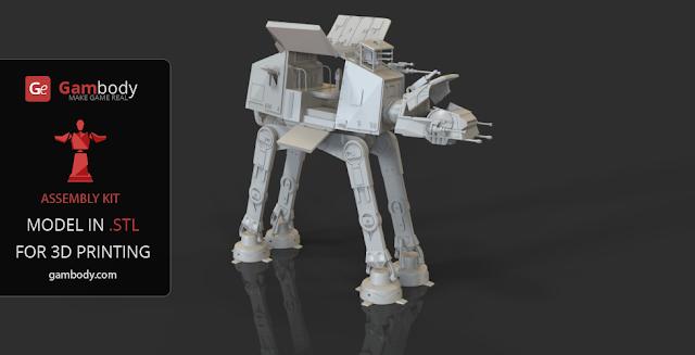 Star Wars AT-AT 3D print model