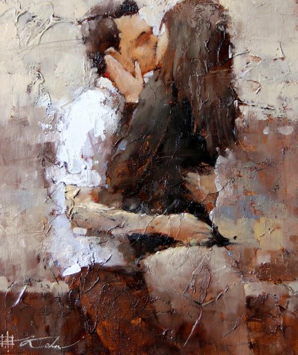 O Beijo - Pintura sobre o Dia dos Namorados