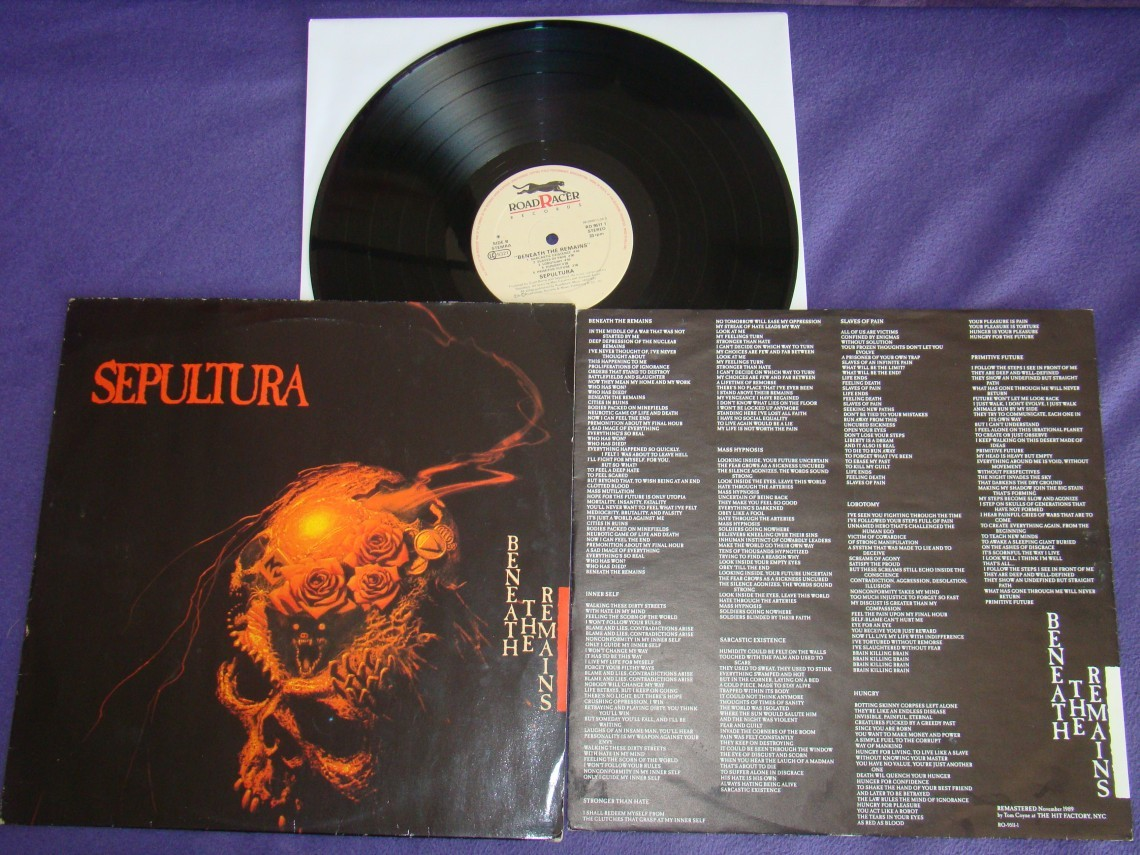 sepultura beneath the remains