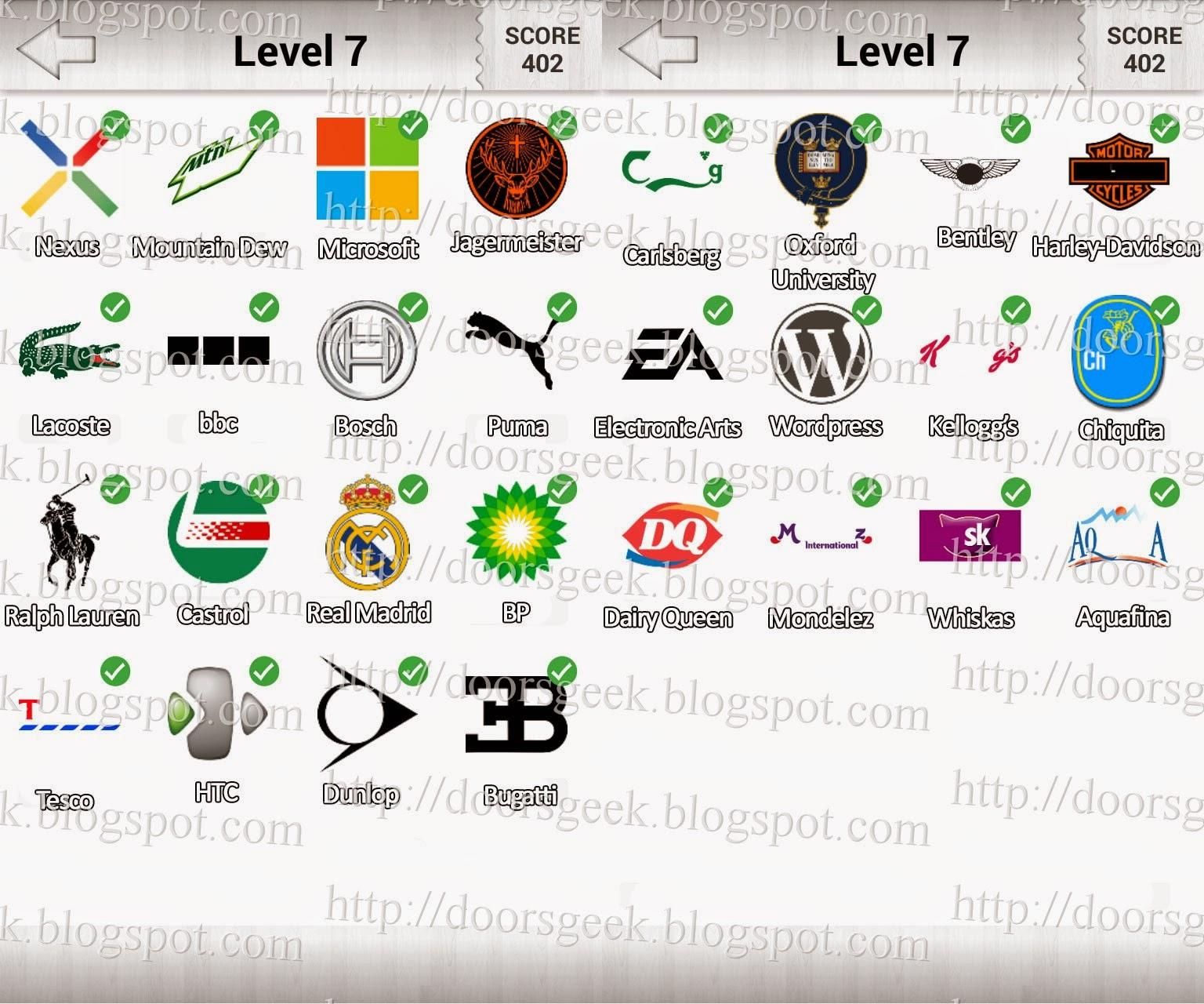 logo quiz  deluxe level 7  candy logo