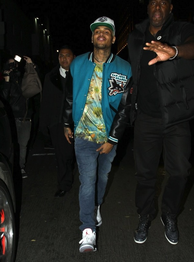 05e35102cf37e1 ... wholesale jay walking chris brown seen in the air jordan iii cement  702f3 d2225