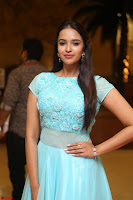 Pujita Ponnada in transparent sky blue dress at Darshakudu pre release ~  Exclusive Celebrities Galleries 012.JPG