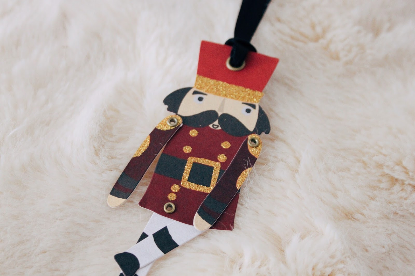 paperchase christmas nutcracker gift tags
