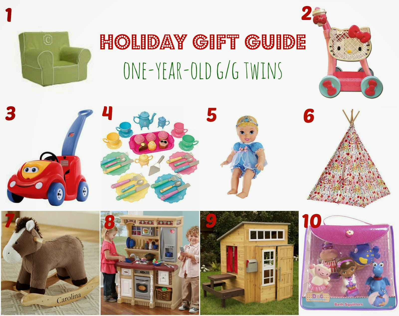Twin Talk Blog Holiday Gift Guide one year old twins