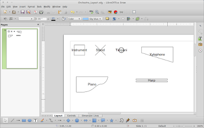 Menggambar Layout Orkestra Linux Pakai LibreOffice Draw