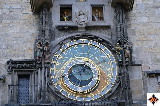 Praga, Orologio Astronomico. Quadrante superiore